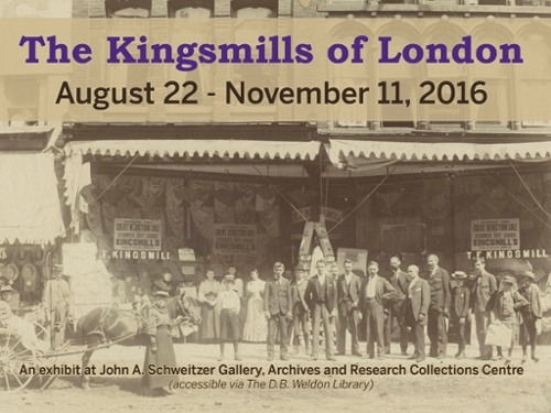 Picture of Kingsmill's Department Store and text about exhibit at the ARCC