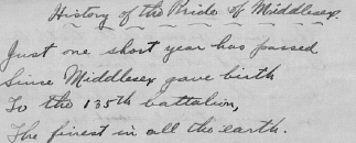 Image of handwritten letter, showing left indentation to indicate a new paragraph.