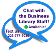 Chat with Business Library Staff!