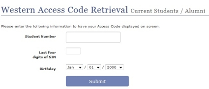 Access code retrieval