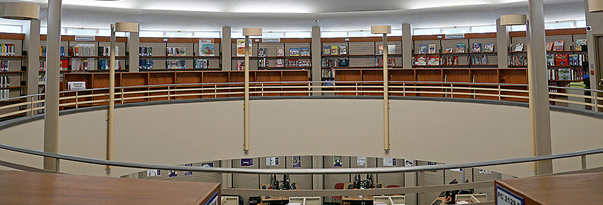 Mezzanine level of the Education Library