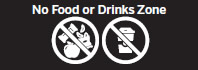 No Food or Drinks Zone