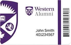 Sample of an alumni card