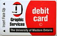 Graphics Services debit card