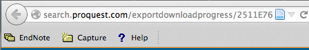 Firefox toolbar for Endnote