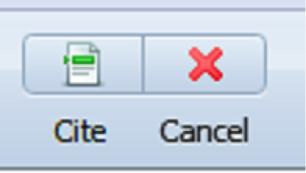 Mendeley Cite Button